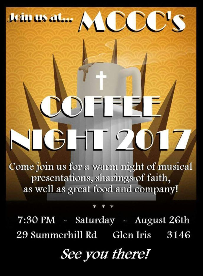 Coffee Night flyer