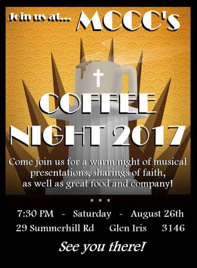 Coffee Night flyer